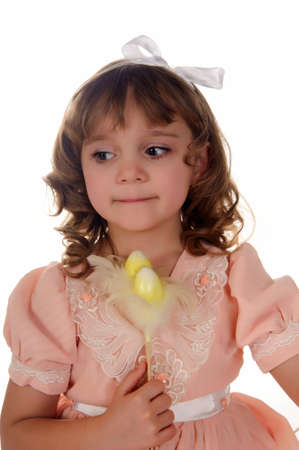 Girl with Easter decorations photo