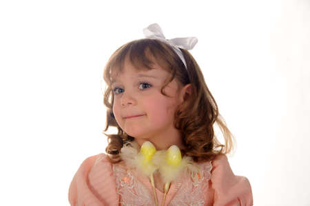 Girl with Easter decorations Stock Photo - 11056426