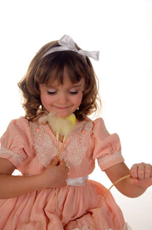 Girl with Easter decorations Stock Photo - 11056434