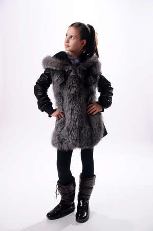 girl in a fur coat Stock Photo - 10079647