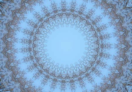 blue with brown circular ornament photo