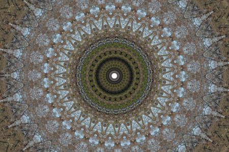fabrick: brown circular ornament