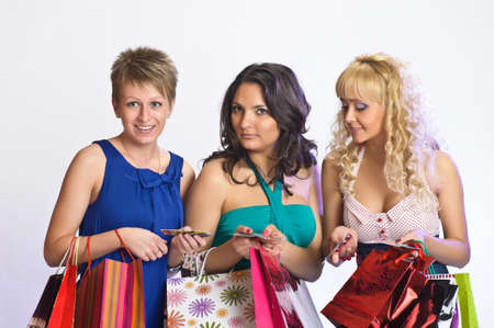 blab: three friends after shopping