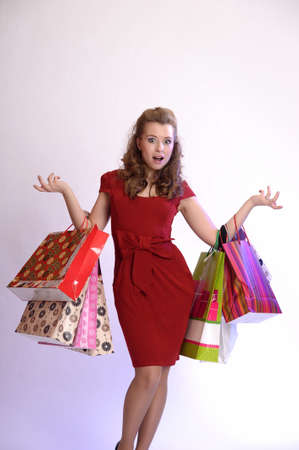 girl with shopping photo