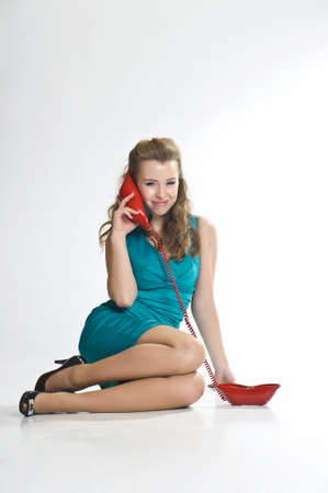The girl  speaking by phone Stock Photo - 10243459