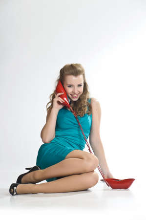 The girl  speaking by phone Stock Photo - 10243460