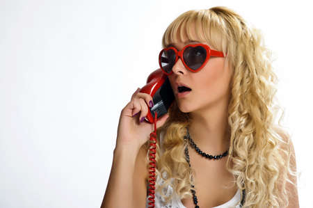 The girl  speaking by phone Stock Photo - 10243469