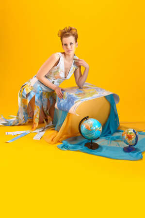 overseas: World girl Stock Photo