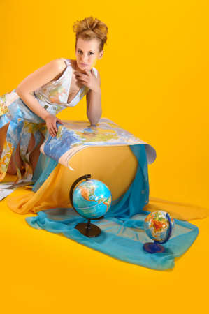 World girl Stock Photo