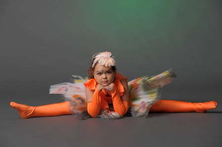 Studio photo girl gymnast photo