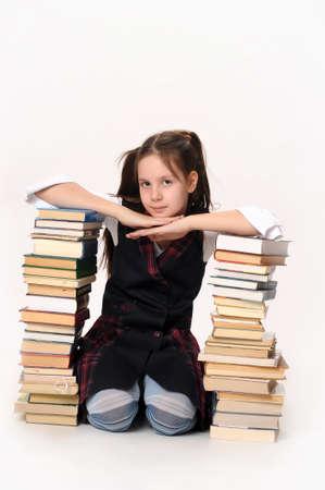 School girl with Books Stock Photo - 10076117