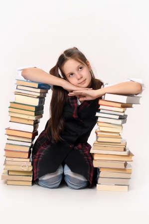 School girl with Books photo