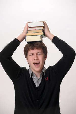Man and books Stock Photo - 10096817
