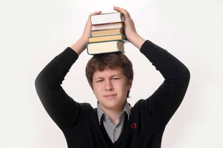 Man and books photo