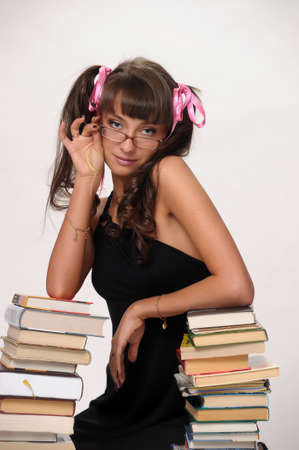 School girl with Books Stock Photo - 10076145