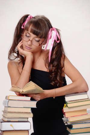 School girl with Books Stock Photo - 10076185