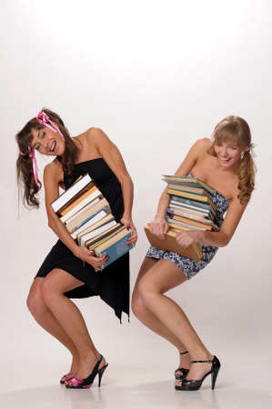 students with textbooks Stock Photo - 10076427