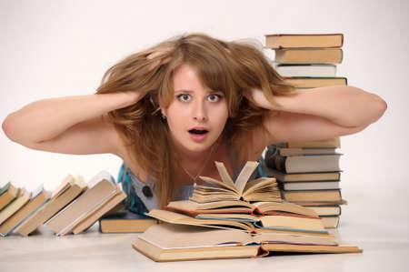Student in panic Stock Photo - 9669445