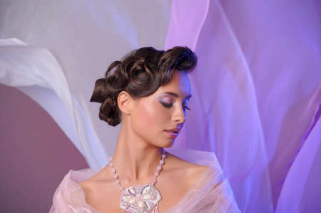 bridesmaid: wedding hairstyle