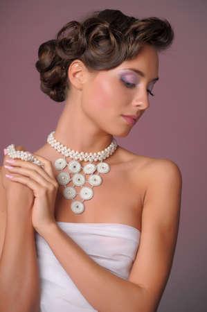 jewelry model: wedding hairstyle
