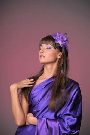The elegant girl in the lilac  photo