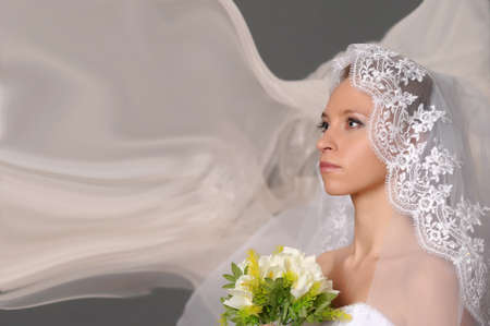 portrait of a bride in waiting for a wedding Stock Photo - 9710943