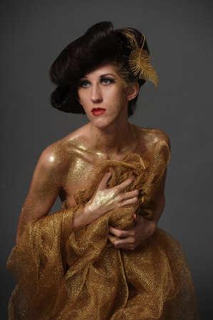 Girl in Gold Stock Photo - 10078706