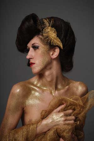Girl in Gold photo