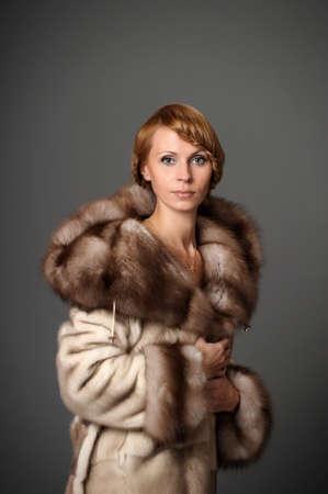 girl in a mink coat Stock Photo - 10326596