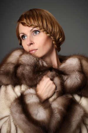 girl in a mink coat Stock Photo - 10326613