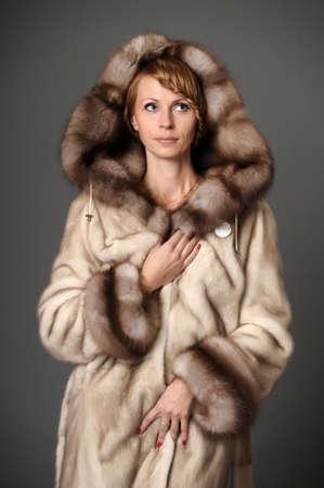girl in a mink coat Stock Photo - 10326614