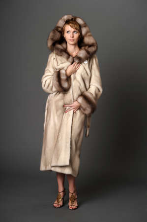 girl in a mink coat Stock Photo - 10326606