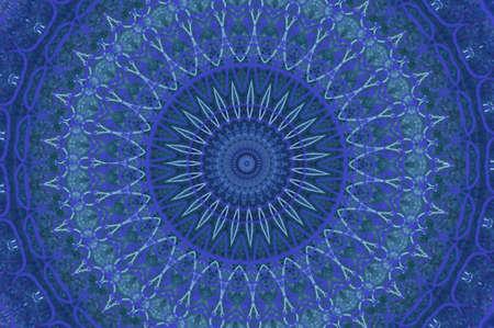 blue circular pattern photo