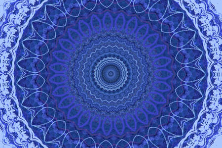 blue circular pattern photo