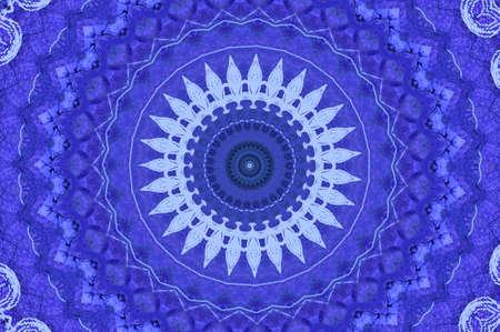 wholistic: blue circular pattern