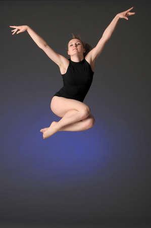 Gymnast jumping Stock Photo - 10448150