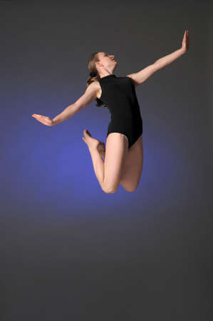 Gymnast jumping Stock Photo - 10448154