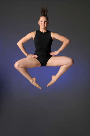 Gymnast jumping Stock Photo - 10448149
