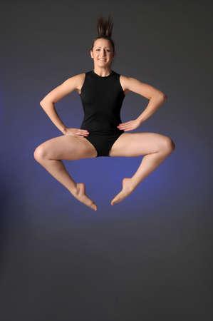 Gymnast jumping Stock Photo - 10448149