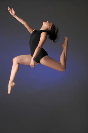 Gymnast jumping Stock Photo - 10448151