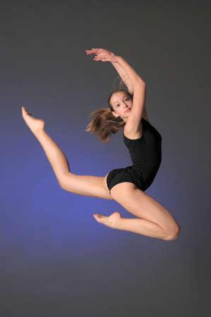 Gymnast jumping Stock Photo - 10448147