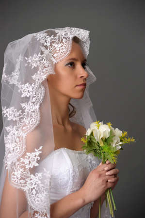 the bride with a bouquet Stock Photo - 9713215