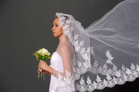 the bride with a bouquet Stock Photo - 9713219
