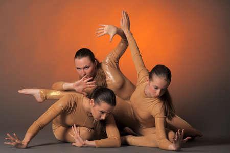 three dancers Stock Photo - 10448189