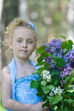 girl with lilac Stock Photo - 10074461