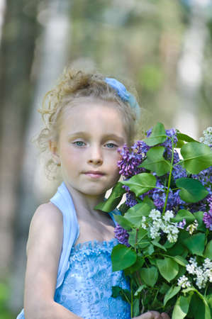 latvia girls: girl with lilac