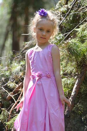 Little girl in the park Stock Photo - 13215477