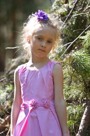 Little girl in the park Stock Photo - 13215476