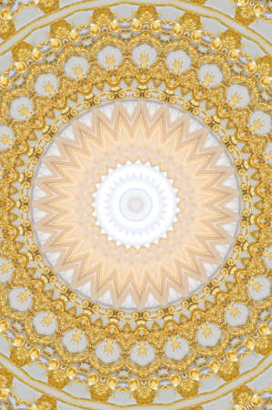 gold with white mandala photo
