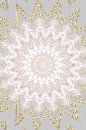 fulfillment: gold with white mandala